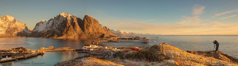 путешествия, природа, горы, лофотенские острова, lofoten islandsб hamnøy Вид на Хамноеphoto preview