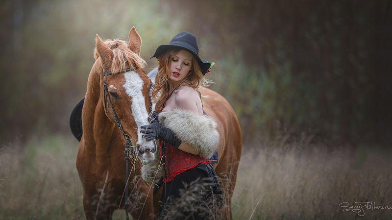 конюшня, девушка, конь, животное, рехов, СергейРехов, rekhov, sergejrekhov Выйду в поле с конём...photo preview