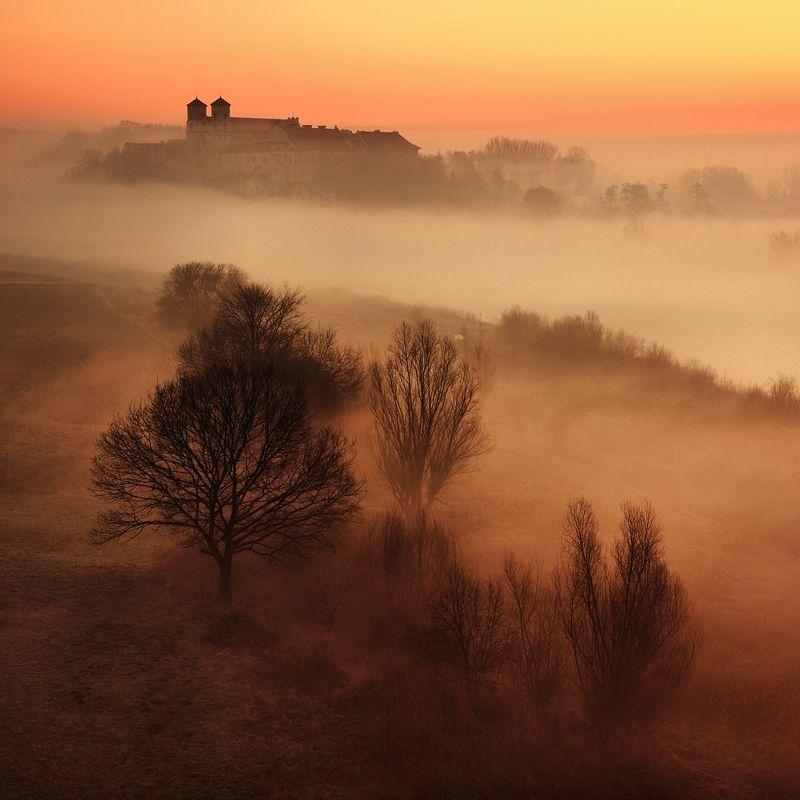 monastery, tyniec, morning, mist, mood, sunrise, poland, The monasteryphoto preview