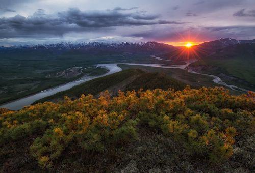 Якутия. Изгибы северной реки.