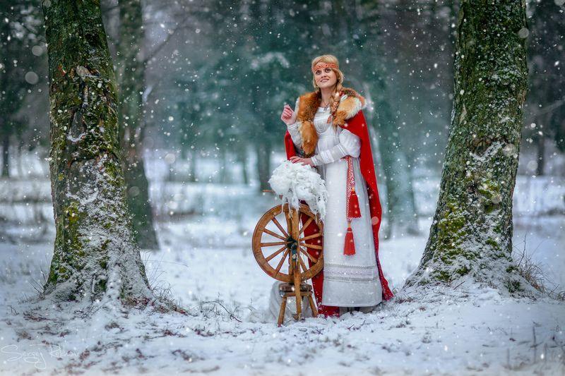 девушка, парк, зима, мороз, рехов, сергейрехов, rekhov, sergejrekhov Зима-кудесницаphoto preview
