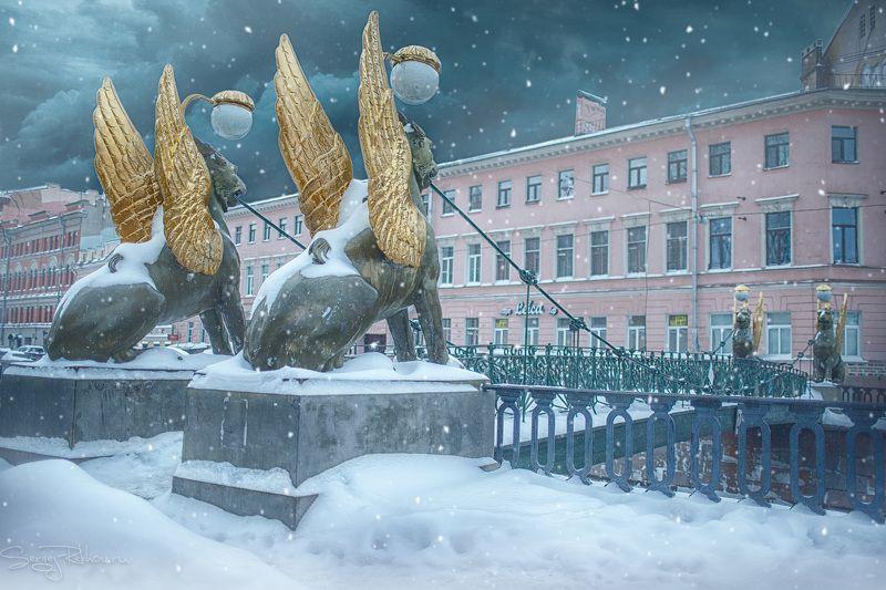 питер, санкт-петербург, зима, мороз, рехов, сергейрехов, rekhov, sergejrekhov Стражи Санкт-Петербургаphoto preview