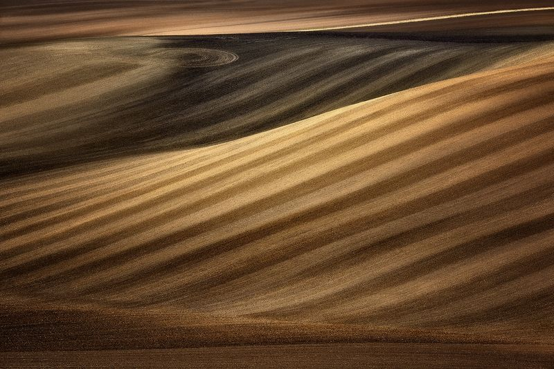 Moravian fields, Moravia, Czech Republic, Kyjov Earth colorsphoto preview