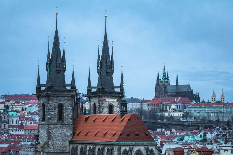 Прага с высоты птичьего полета..photo preview