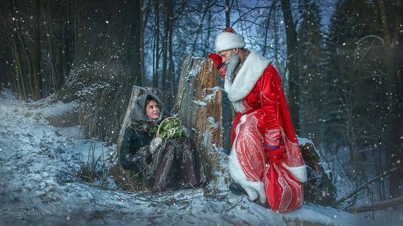 новый год, рождество, сказка. лес, мороз, снег, рехов, сергейрехов, rekhov, sergejrekhov Морозкоphoto preview