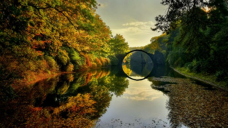 Germany, Rakotzbrucke, Devils Bridge.  Kromlau. Devil\'s Bridgephoto preview