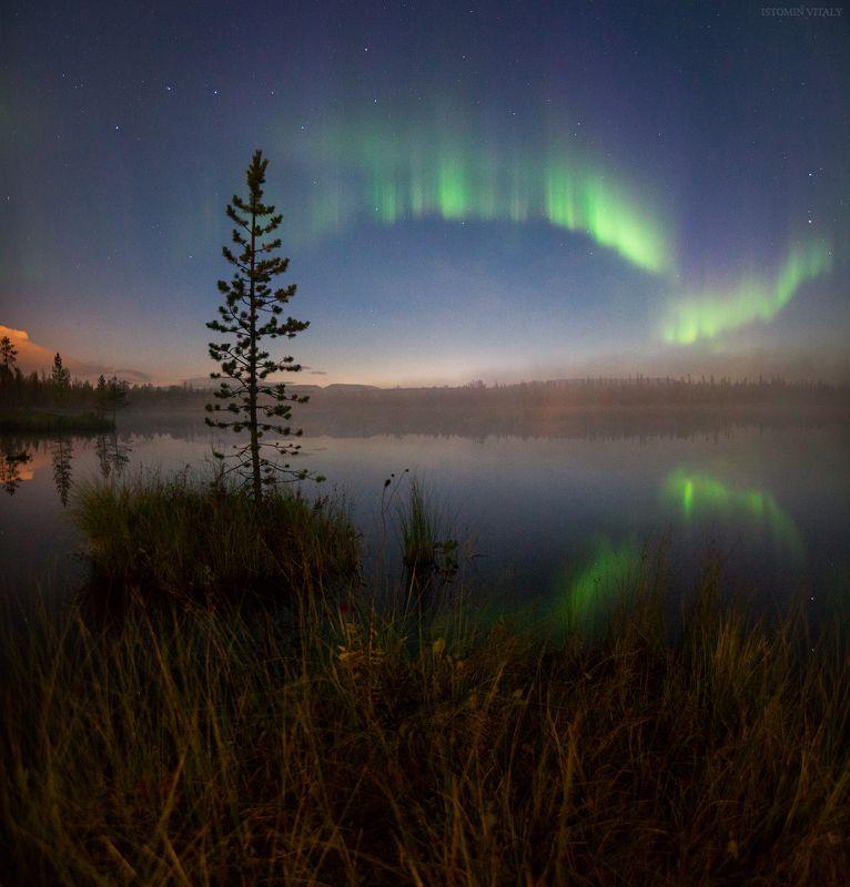 пейзаж,отражение,россия,хибины,пейзаж,россия,осень,сияние Осенняя photo preview