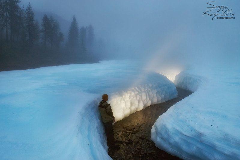 якутия, наледь, туман Конденсация.photo preview