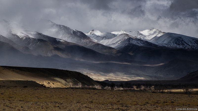 алтай, горы, кызыл-чин, осень, природа, пейзаж Буря мглою горы кроет...photo preview