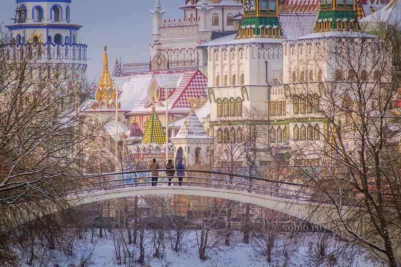 измайлово, измайловский кремль, мост, зима, москва, izmailovo, izmailovo kremlin, bridge, winter, moscow, Зимнее царство Берендеяphoto preview