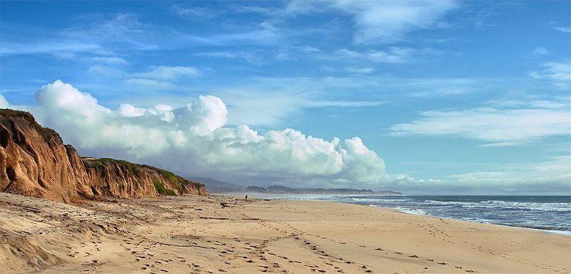 half moon bay, usa, california, pacific, ocean На взморьеphoto preview
