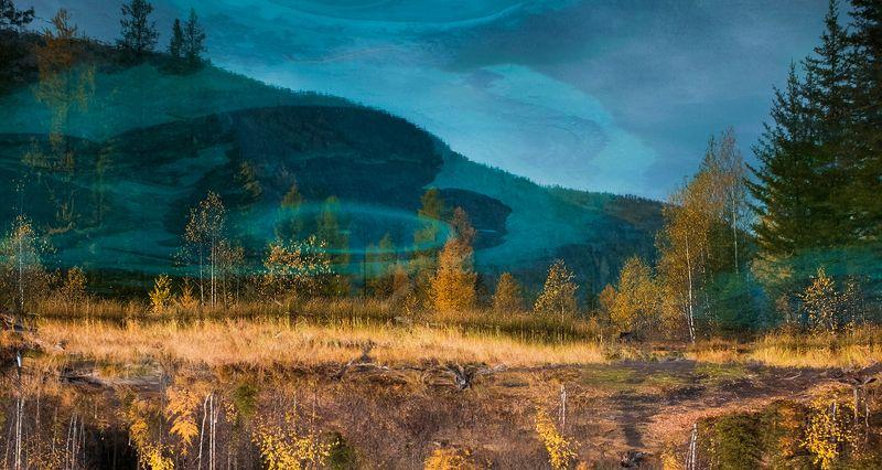 гейзеровое озеро, голубое озеро, лиственницы, берёзы, отражения, горный алтай, республика алтай Pro мистические миры Гейзерового озераphoto preview