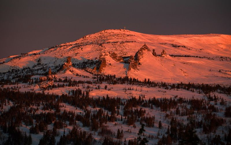 сибирь, зима, снег, кузбасс, природа, пейзаж, лес, шерегеш Сибирские склоны!photo preview
