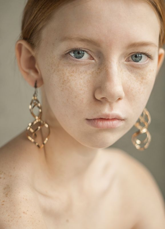 test shoot, modeltest, girl, ginger, redhead, freckles, portrait, fashion, style  Юлияphoto preview
