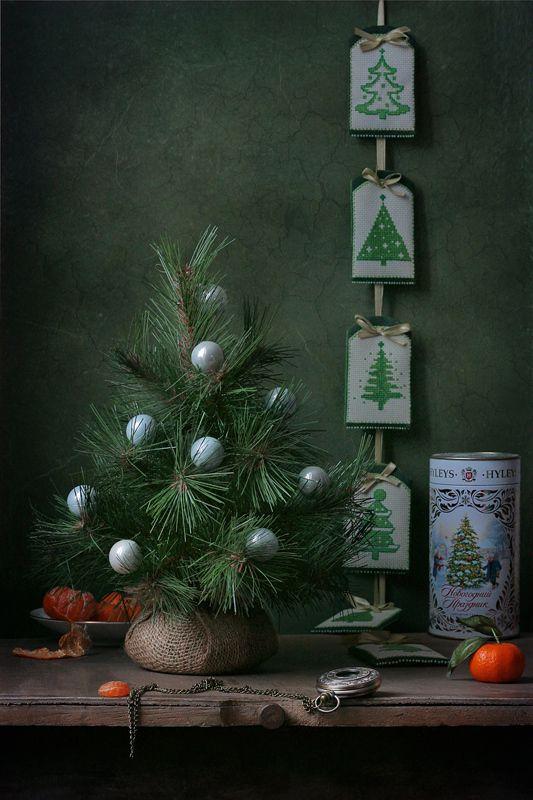 натюрморт, новый год, ёлка, мандарины, праздник Пусть все сбывается!photo preview