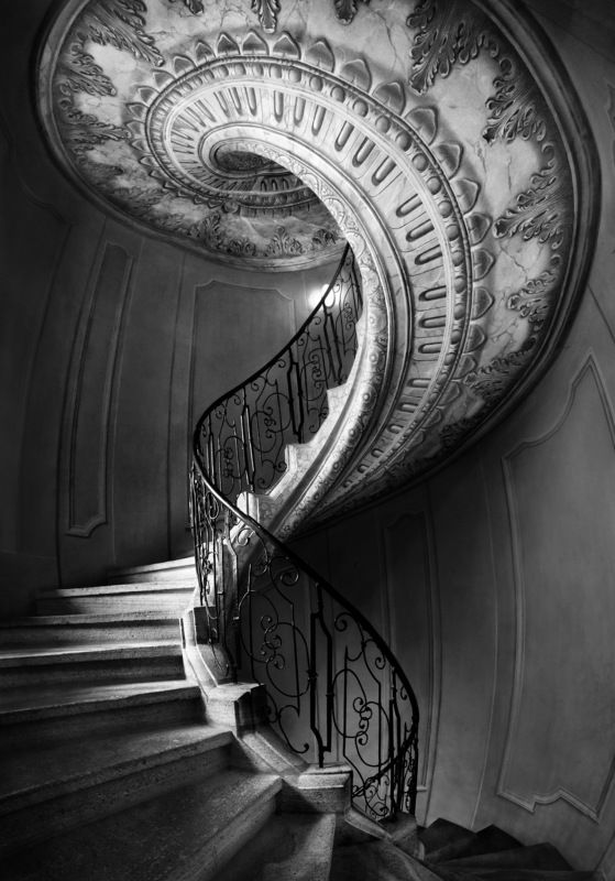 city, architecture, black & white, snake, austria, abbey, stairs, surreal, skin, spiral, old Serpentphoto preview