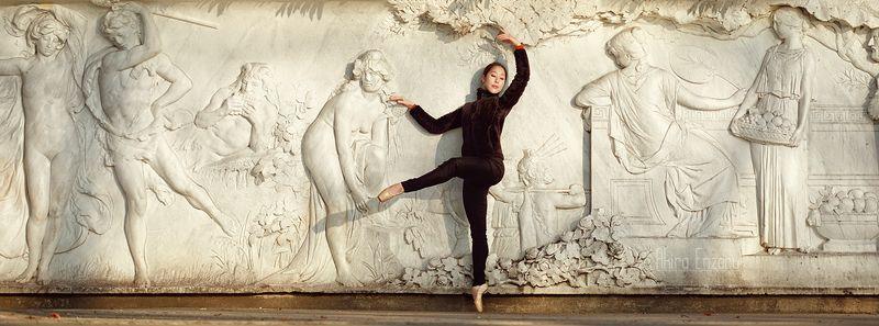 ballerina, dance, dancing, portrait, street, outdoor Фре́скаphoto preview
