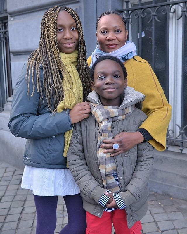 Street portraits of the African population of the city Verviers(Belgium).photo preview