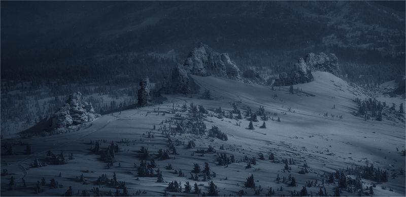 сибирь, зима, снег, кузбасс, природа, пейзаж, лес, шерегеш Шерегеш*ские тайны...photo preview