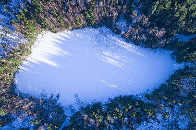 московская область, зима, канал имени москвы, аэро, aerial Первый солнечный день в этом году!photo preview