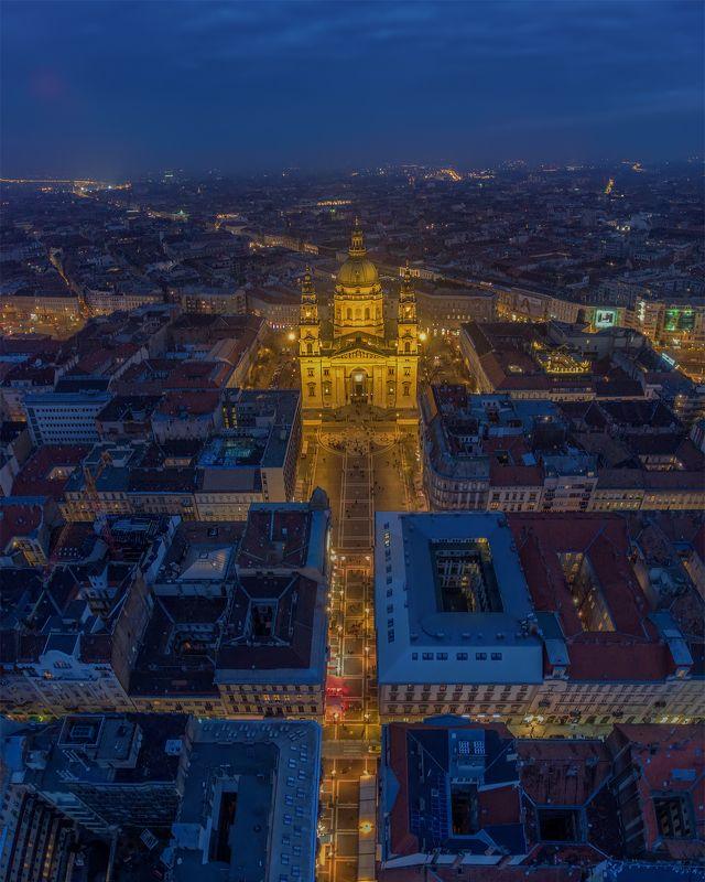 будапешт, budapest, hungary, венгрия Blue hour above Budapest.photo preview