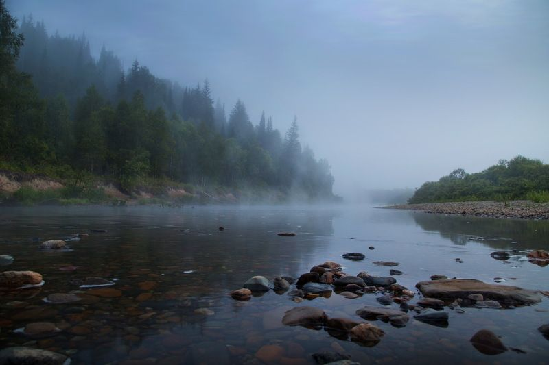сибирь, пейзаж, кузбасс, река, тутуяс Таёжная река. Кузбассphoto preview