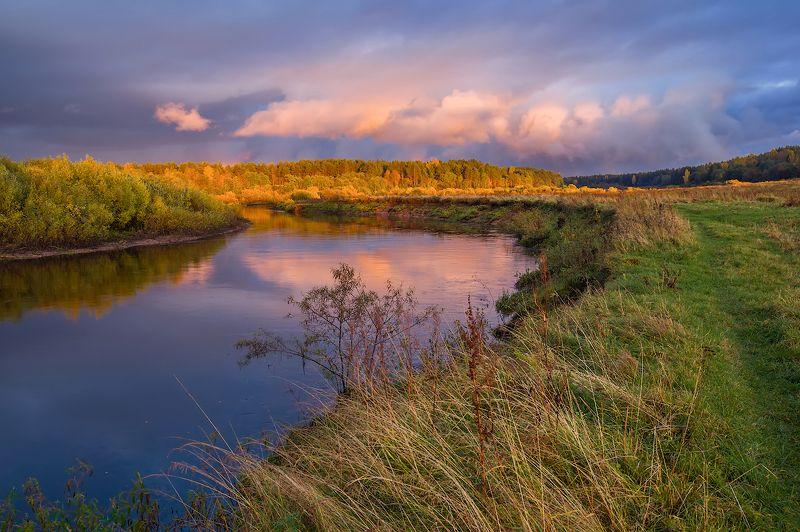 про золотую осень, русскую глубинку и оранжевый вечерphoto preview