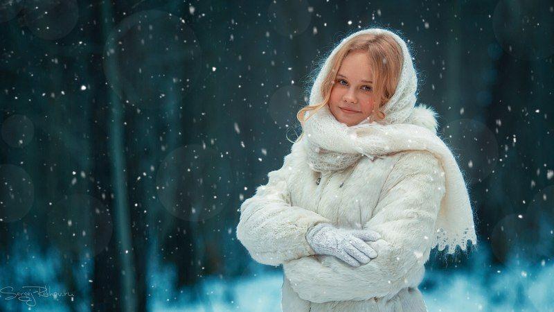 девочка, лес, снег, зима, метель, сказка, рехов, сергейрехов, rekhov, sergejrekhov Ксюшаphoto preview