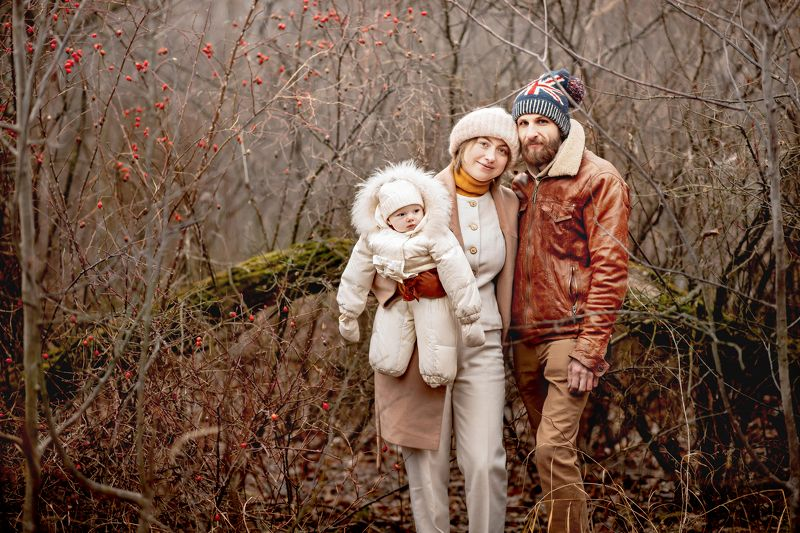 семья, ноябрь, осень Ноябрьская прогулкаphoto preview