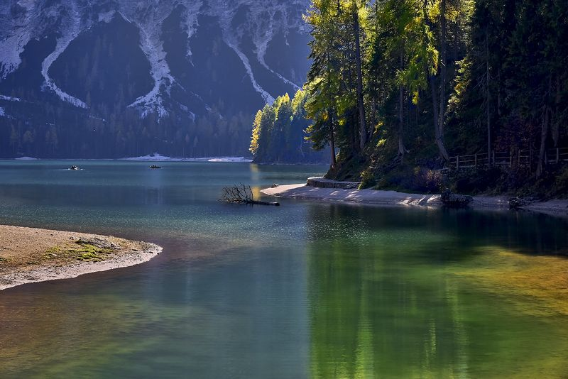 italy, dolomites, nature, landscape, water, Lago di Braiesphoto preview