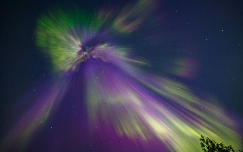 север, сияние, коми,печора, Корона полярного сияния класса Х 9.3photo preview