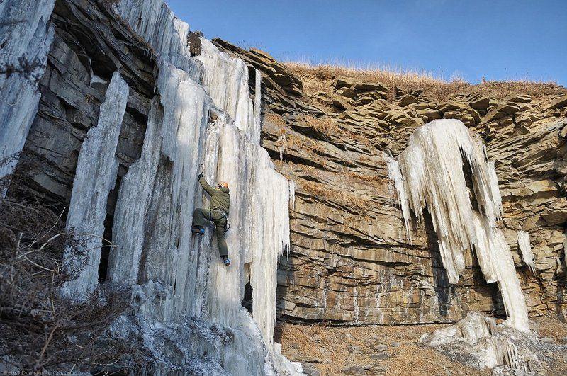 ледолазание, лёд, сосульки, владивосток, бухта, тихая, холод, собачий, ветер Лёд, кошки, молоткиphoto preview