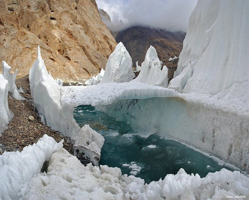 горы, каракорум, китай, ледник, гашербрум, туризм, альпинизм Реки и мостыphoto preview