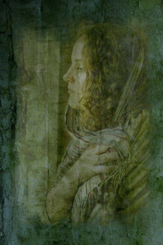 фреска, портрет \