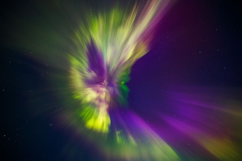 север,ночь,природа,северное сияние,зима Ещё один снимок полярного сияния класса Х 9.3 Коронаphoto preview