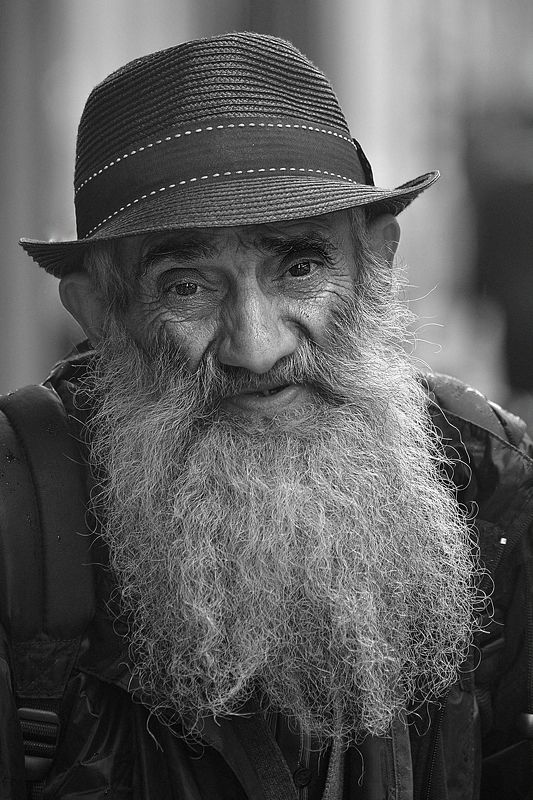 The old and sad man.photo preview