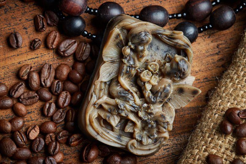 мыло, кофе, ручная работа, рекламная фотография, натюрморт, стиль, кофейные зерна, кофейное мылоphoto preview