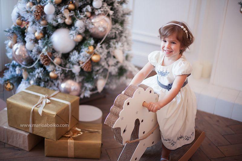 девочка, фото, фотография, студия, портрет, ребенок Новогоднееphoto preview