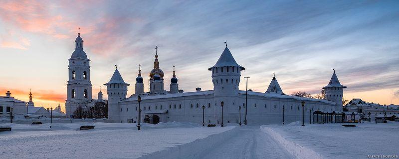 тобольск, тюменская область, сибирь, кремль, крепость, город, архитектура, закат, зима, снег Тобольский кремльphoto preview