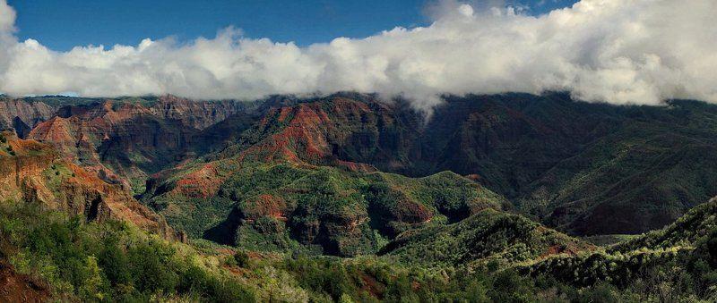 waimea, каньон, kauai, hawaii, панорама Waimeaphoto preview