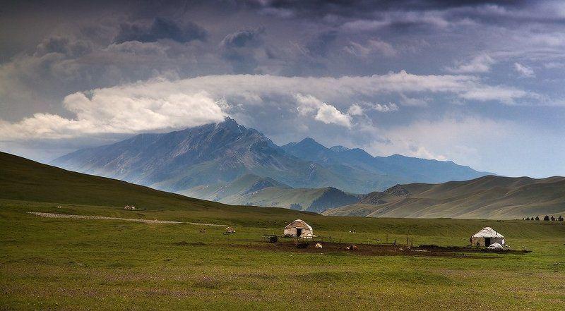 казахстан, юрты, летние пастбища, жизнь кочевников Казахстанphoto preview