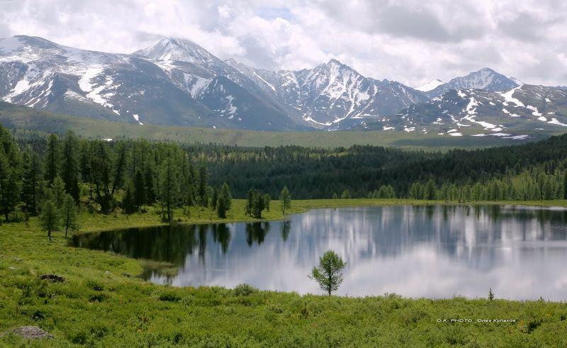 улаган.озеро, на, перевале.озеро.алтай.горный, алтай.июнь        горы      олег кулаков   oleg kulakov   ok-photo Улаган.Озеро на перевале.Горный Алтай.photo preview