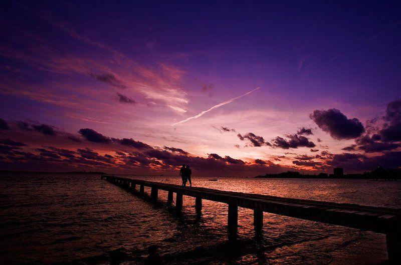noumea, sea, sunset, ocean, beach, kids photo preview