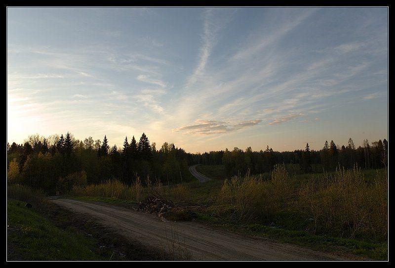 дороги дорога лес небо Там по извилистым дорогам ...photo preview