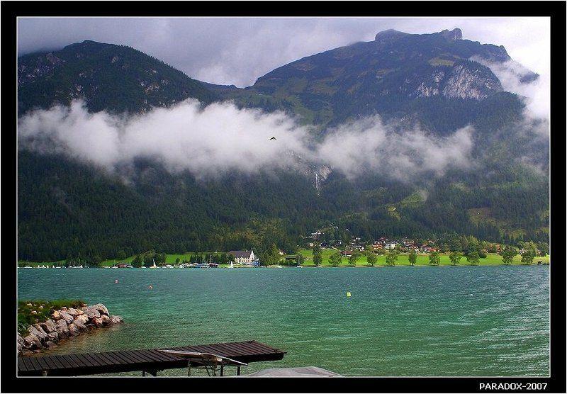 австрия,тироль, ахензее,другой берег,птичка,озеро,туман,paradox Улететь на тот берегphoto preview