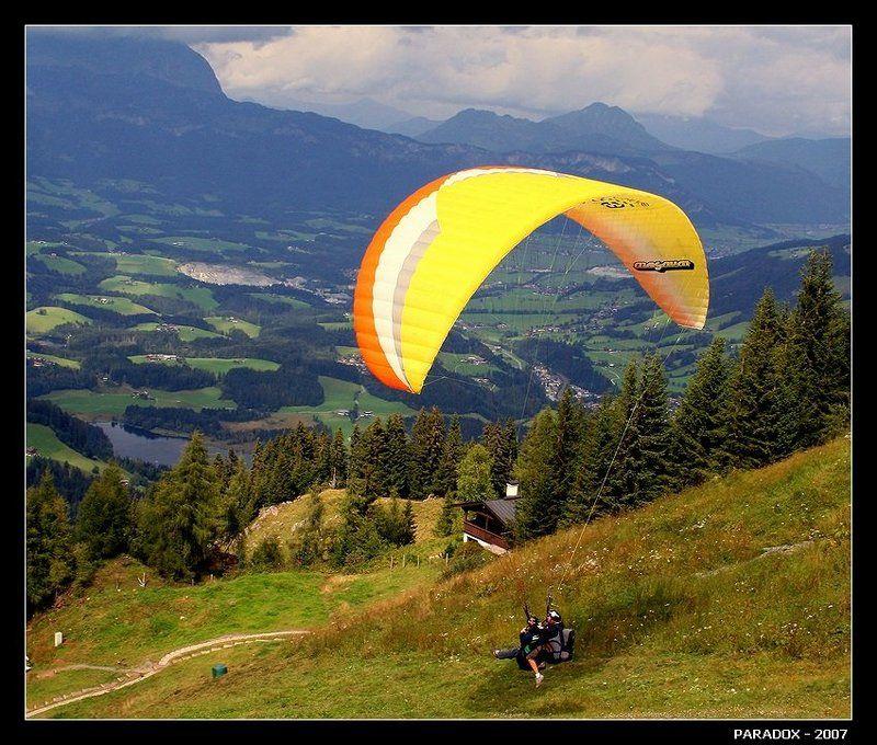австрия,тироль,горы,полет,параплан,paradox ВЗЛЕТphoto preview