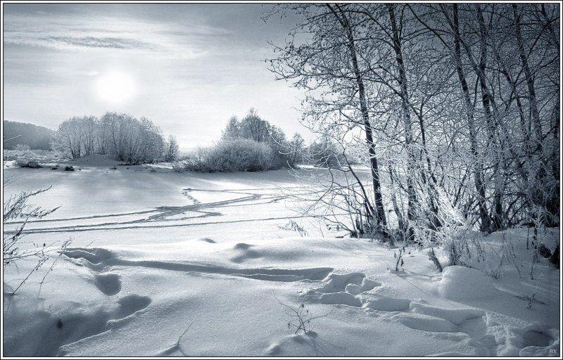 мороз, утро, река В морозное утро...photo preview