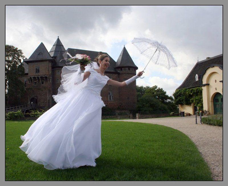 свадьба, невеста, порыв Порывphoto preview