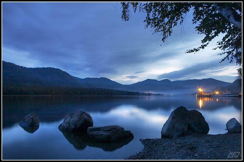 телецкое озеро вечер горный алтай Телецкое озеро: вечерphoto preview