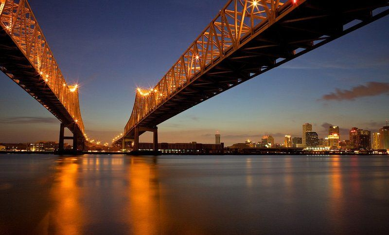 nola, bridge, usa, new orleans, downtown photo preview